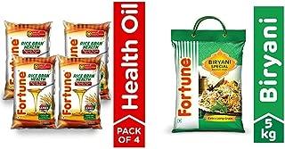 Fortune Combo, Rice Bran Oil 4x1l & Biryani Rice, 5kg