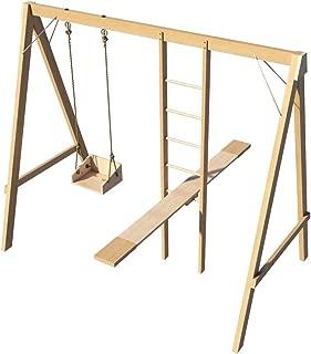 Kids Swing Set Ladder Seesaw Plans DIY Playground Backyard Play Set Outdoor