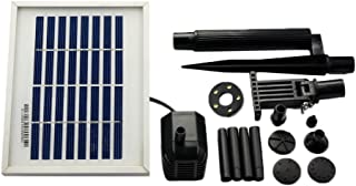 ASC Solar Water Pump Kit for Fountain Pool and Pond (1.6W Battery/Timer LED)