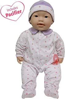 JC Toys, Asian La Baby 20-inch Soft Body Pink Play Doll - For Children 2 Years Or Older, Designed by Berenguer