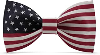 Lanzonia American Bow Ties for Men, Novelty Designer U.S. USA Flag Bowtie for Wedding Party Prom Graduations Valentines Day