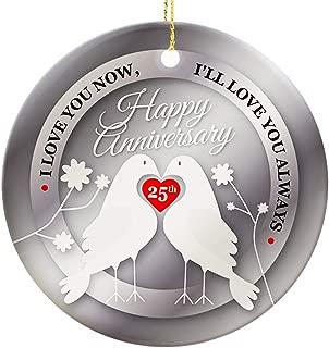 Graphic Rhythm 25th Anniversary Ornament - Love Birds