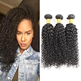 Huarisi Curly Brazilian Hair Bundles 100 Human Hair Weave Tight Kinky Curl Hair Extensions For Black Women 18 20 22 Inches