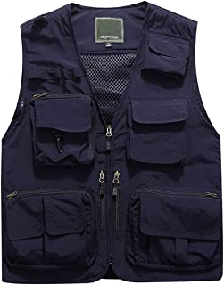 Men's Work Multi-Pockets Lightweight Outdoor Travel Fishing Vest
