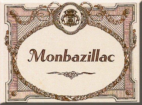 FRANSE VINTAGE MAGNET 6x8cm BERGERAC GRAND CRU WIJN MONBAZILLAC - MM1421