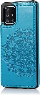 MOONCASE Capa para Samsung Galaxy A51, Suave Couro PU Magnéticos Botões Padrão de Mandala À Prova de Choque Flip Carteira ...