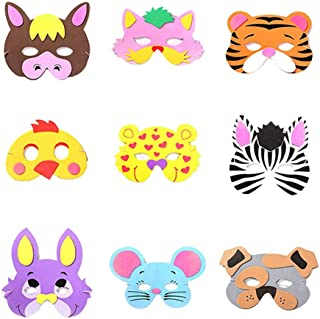 Halloween BESTZY 10 Pieces Forest Animals Felt Masks Christmas Masquerade Foam Animal Masks Party Masks for Children for Party Bag Fillers,Birthday Party