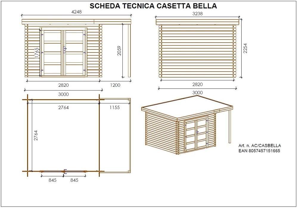 Plano casa prefabricada