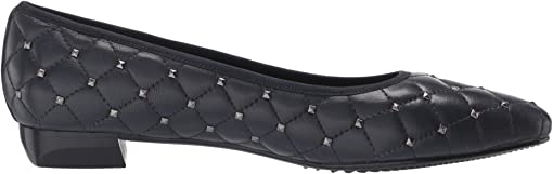 Navy Quilted Nappa/Gunmetal Studs