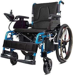 ZHANGYY Sillas de Ruedas eléctricas, sillas de Ruedas eléctricas Plegables Scooter de Ruedas de Viaje eléctrico portátil Ligero para Ancianos discapacitados Movilidad Silla de Ruedas eléct