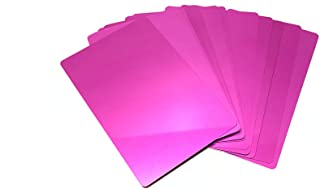 Malayan - 100 Pink Anodized Aluminum Business Card Blanks - Laser Engraver and CNC engraving Color options available