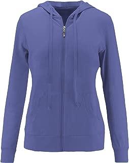 ClothingAve. Womens Basic Lightweight Cotton Blend Long Sleeve Zip Up Hoodie Jacket