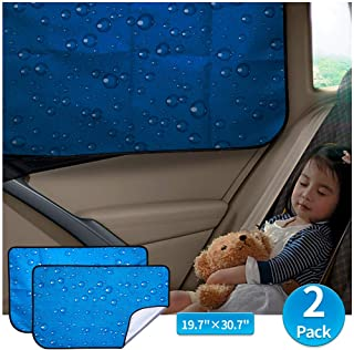 aokway Car Sun Shade Car Window Shade Double Thickness Rear Side Window Auto Sunshades Universal Fit for rv Truck for Baby...