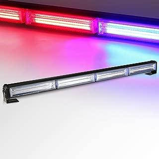 "Automaze LED Strobe Police Light Flasher, COB 24"" 42W Warn Emergency Hazard w/Cigar Lighter for Police, Snow Plow, Truck, Law Enforcement Vehicle,Ambulance, Fire truck(Red Blue)"