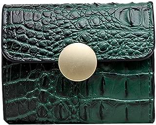 Clearance Sale!DEESEE(TM)🍁🍁Women Retro Pure Color Alligator Short Wallet Coin Purse Card Holder Handbag (Green)