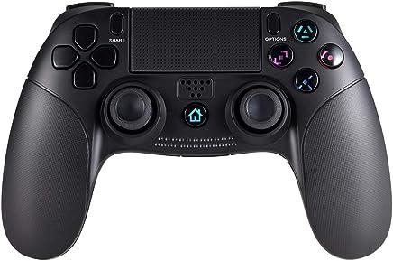 PS4 ワイヤレス コントローラー for DUALSHOCK 4 Pekyok GP07 PS4 ゲームパット 無線 Bluetooth接続 イヤホンジャック 加速度センサー 6軸 重力感応 HD振動 付き 充電可能 ゲームパッドDUALSHOCK 4/Windows 対応(Third-Party Product)ブラック