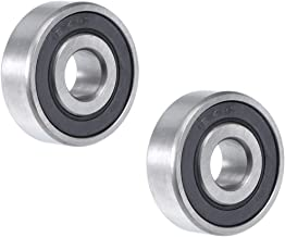 uxcell 1614-2RS Deep Groove Ball Bearing 3/8 inches x 1-1/8 inches x 3/8 inches Double Sealed Chrome Steel Bearings 2-Pack