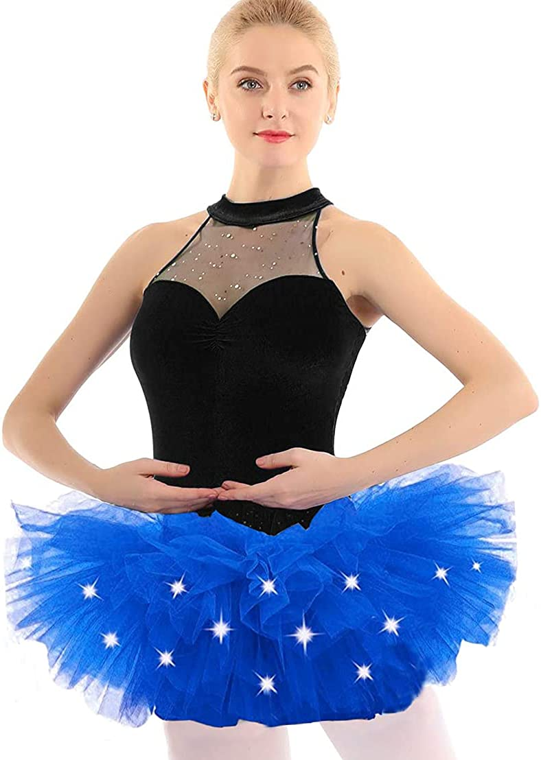 Women's Tulle Tutu Skirt Selling and selling 5 Layered Up Party Light Dance Neon Colorado Springs Mall LED