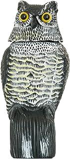 comprar comparacion Búho Espantapájaros, wind-action pájaro repelente Disuade a pájaros y las plagas Animal como palomas de jardín esferas