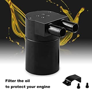 Ruien High Performance Black Aluminum Alloy Reservior Oil Catch Can Tank for BMW N54 335