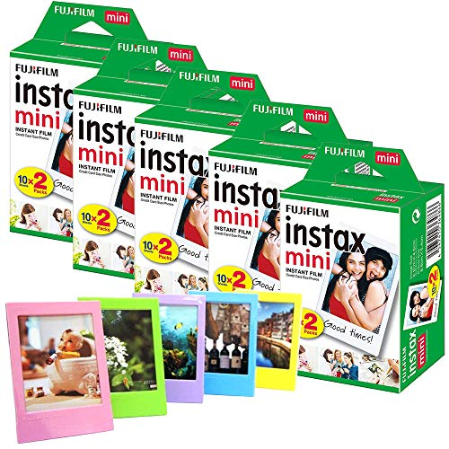 Fujifilm Instax Mini Film (100Fotos) + 5Marcos de Fotos