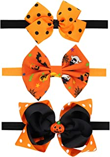 Baby Orange Headband With Flower Hair Bow Band Girls Hair Accessories JHH20