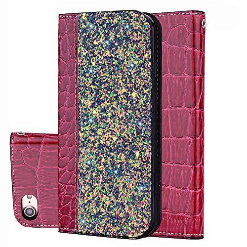 Preisvergleich Produktbild Handy hülle Tasche Leder Flip Case Brieftasche Etui Schutzhülle für Apple iPhone X XS / XR / XS MAX / 5G 5S ES / 6G 6s / 6 Plus / 7G 8G / 7Plus / 8Plus hülle, 5 Farben