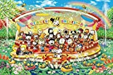 HJHJHJ 1000 Piece Puzzle - Snoopy Water Orchestra - Concert - Wooden Jigsaw - Adult and Son