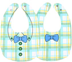 Pau1Hami1ton 1/8 Packs Waterproof Teething Drool Bib Set for Boys & Girls, Water Resistant Feeder NBB-03