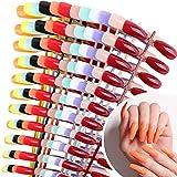 288pcs Faux Ongle Ballerine Autocollants Long Capsule Appuyez sur Ongle Cercueil Nails Art Couverture Complète Artificiel pour Femme Fille