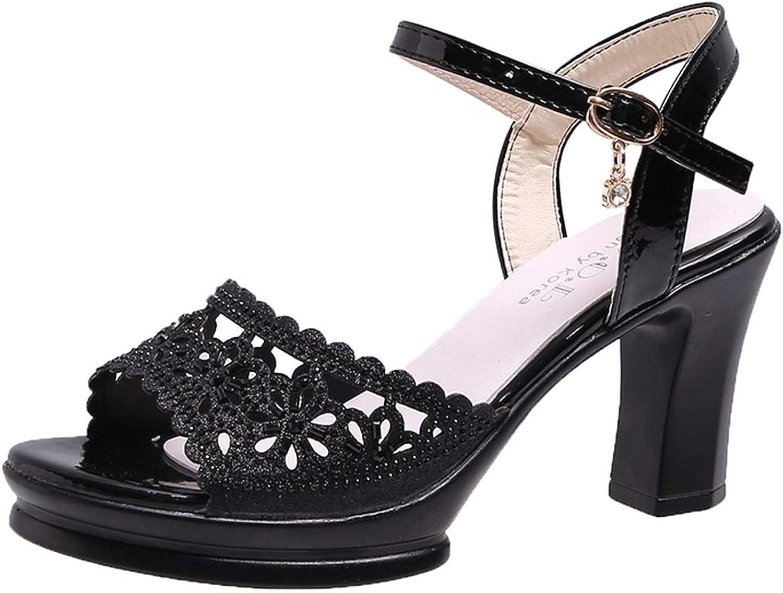Sexy Women Sandals Ladies shoes Woman High Heels Summer Sandals Female Buckle Strap 9cm
