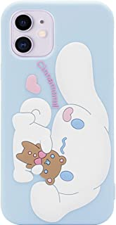 MC Fashion iPhone 11 Case, Cute 3D Creative Fun Cartoon Puppy Dog Case, Full-Body Protective Shockproof Soft Silicone Case Cover for Apple iPhone 11 6.1 inch 2019 (Cinnamoroll)