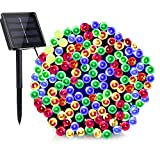 ArtDIY Solar String Lights,72ft 200 LED 8 Modes Solar Powered Christmas Lights, Outdoor Waterproof Fairy Lights for Tree Garden Homes Wedding Party Lawn Decorations(Multi-Color)