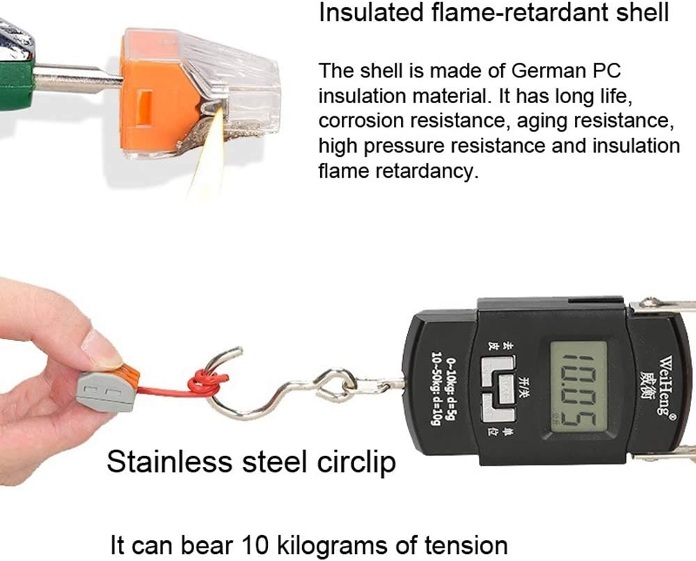 KKmoon Flame Retardant Cable Connector Set Universal Fast Electric Wire Connectors Kit Quick Install Terminals