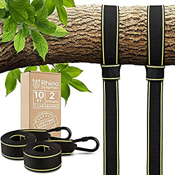 Tree Swing Straps Hanging Kit - Two 10ft Straps Holds 2800 lbs  SGS Certified  Fast & Easy Way to Hang Any Swing