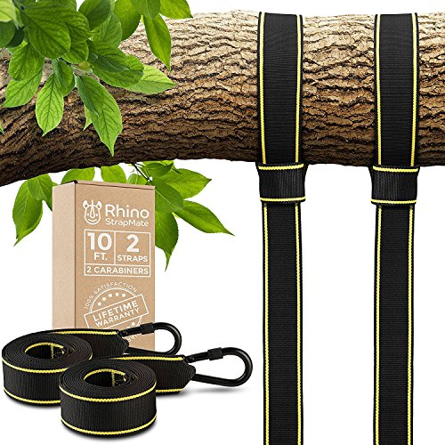 Tree Swing Straps Hanging Kit - Two 10ft Straps, Holds 2800 lbs (SGS Certified), Fast & Easy Way to Hang Any Swing