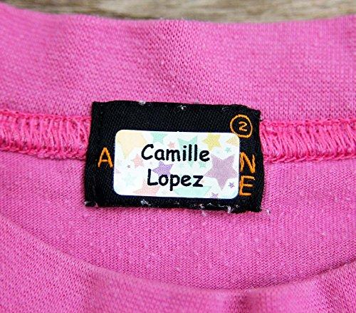 120 x zelfklevende Etiketten voor Kleding, Knuffels en Persoonlijke Bezittingen   Gepersonaliseerde Stickers   Zonder Naaien en Strijken