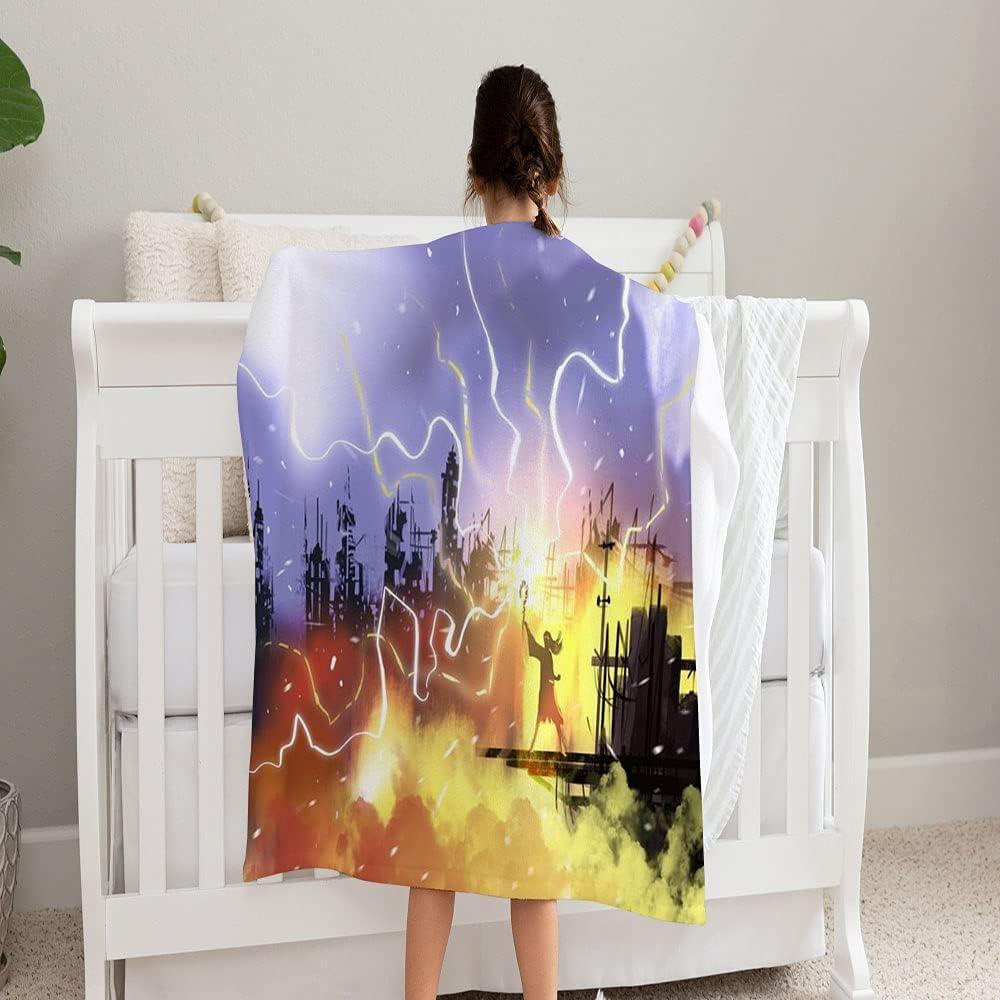 GANTEE Max 70% OFF Sorcerer Magic Spell Call Baltimore Mall Super Blanket On Lightning Sof