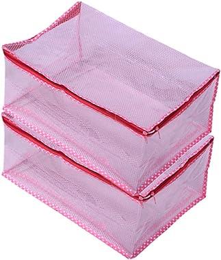 Padam Enterprises Net Transparent Saree Cover/Multiple Saree/Cloth Organiser/Suit Cover Set Of 2 Pcs