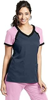 Grey's Anatomy Active 3-Pocket V-Neck Top for Women - Modern Fit Medical Scrub Top