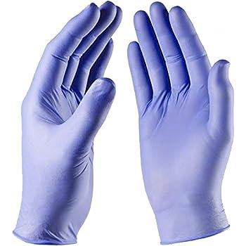 Azul Medio Caja de 200 Guantes Desechables de Nitrilo polvo y libre de látex Medical