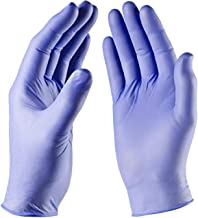 Nitrile Exam Gloves - Medical Grade, Powder Free, Latex Rubber Free, Disposable, Non Sterile, Food Safe, Textured, Convenient Dispenser Pack of 200 (Large)