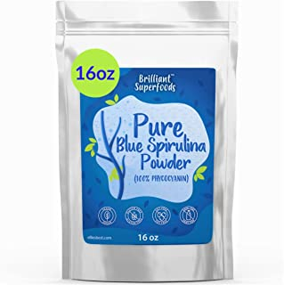 Blue Spirulina Powder - Bulk 1lb - 100% Pure Superfood Supplement - Brilliant Blue Powder - Natural Food Coloring - Pure Water Extracted - Ellies Best