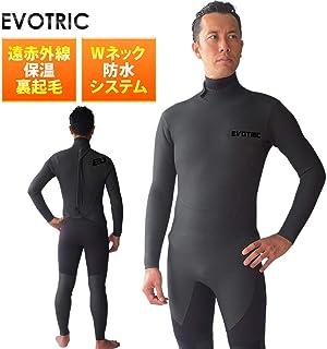 セミドライスーツ ウェットスーツ メンズ セミドライ ウエットスーツ サーフィン EVOTRIC 5/3mm 保温起毛素材 バックジップ