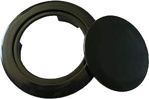SUQ I OME Patio Table Umbrella Hole Ring Plug Cover for Table Set -2-Inch (Black)