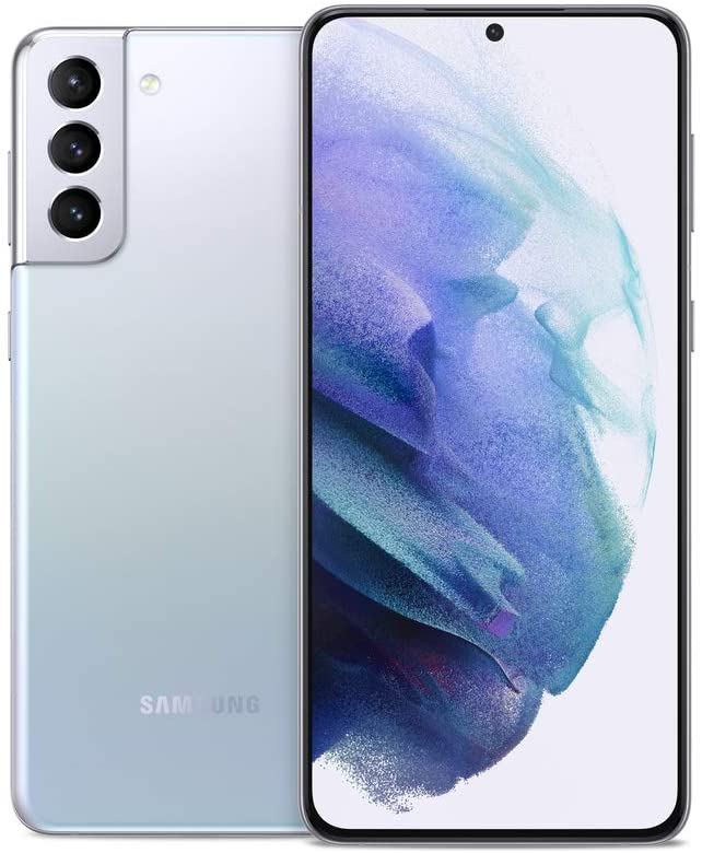 SAMSUNG Galaxy S21+ Plus 5G Factory Unlocked Android Cell Phone 128GB US Version Smartphone Pro-Grade Camera 8K Video 12MP High Res, Phantom Silver