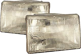 For 1993 1994 1995 1996 1997 1998 Jeep Grand Cherokee Headlights Headlamps Driver Left and Passenger Right Side Pair Set Replacement