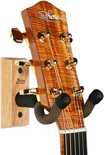 String Swing Guitar Hanger – Holder for Electric Acoustic and Bass Guitars – Stand Accessories Home or Studio Wall - ...
