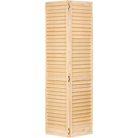 Closet Door Bi Fold 6 Panel Style Solid Wood 80x24 Closet Storage And Organization Systems Amazon Com