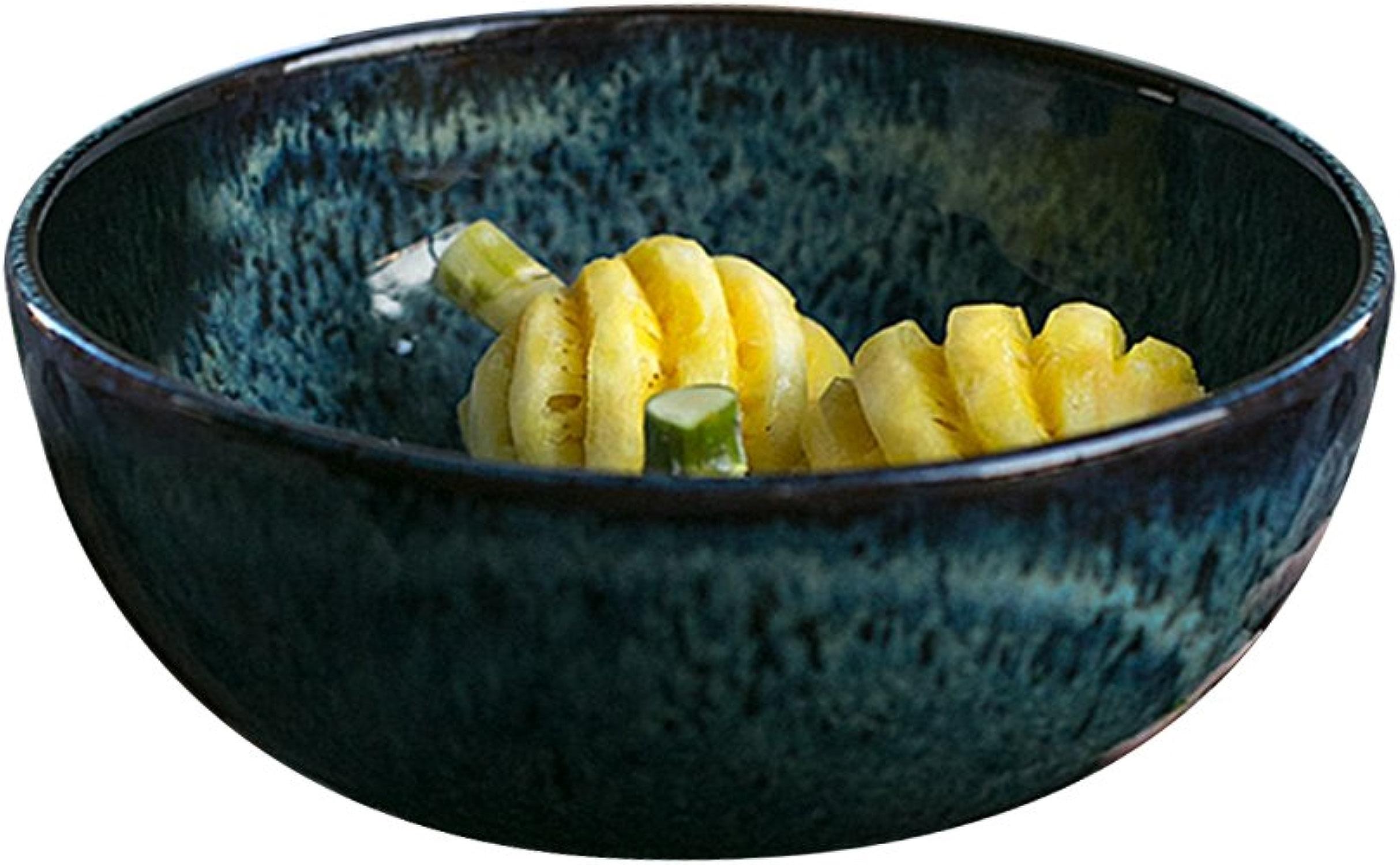 Bols à céréales Bol de salade de fruits de grès, bol de soupe de bol de nouilles créatif grande bol de légumes bol de cuisson de vaisselle Vintage vaisselle 22,5  10 cm LiuJF (Taille   22.5  10cm)